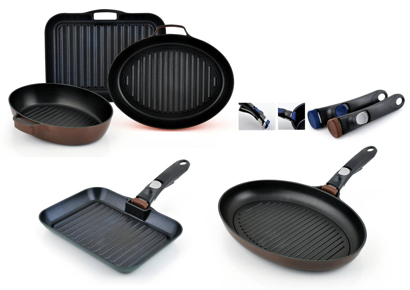 Removable Handle Grill Pan