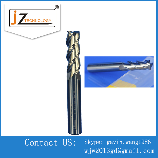 Precision Carbide Four Blades Bottomed CNC End Mills