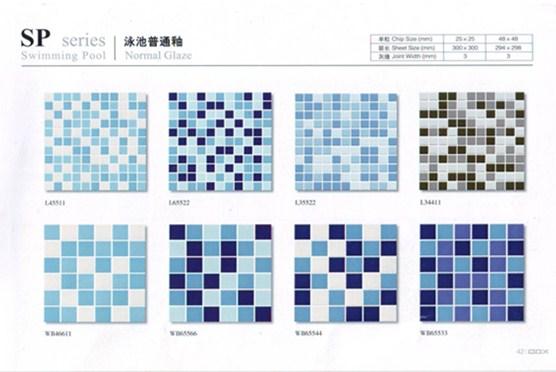 Ceramic Mosaic tile for 1 pack swimming pool