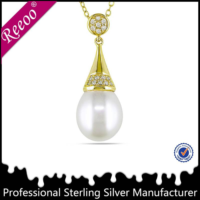 925 sterling silver pearl necklace deisign