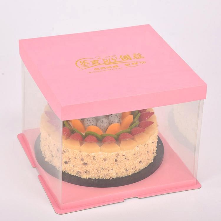 New design hot sale plastic cake box