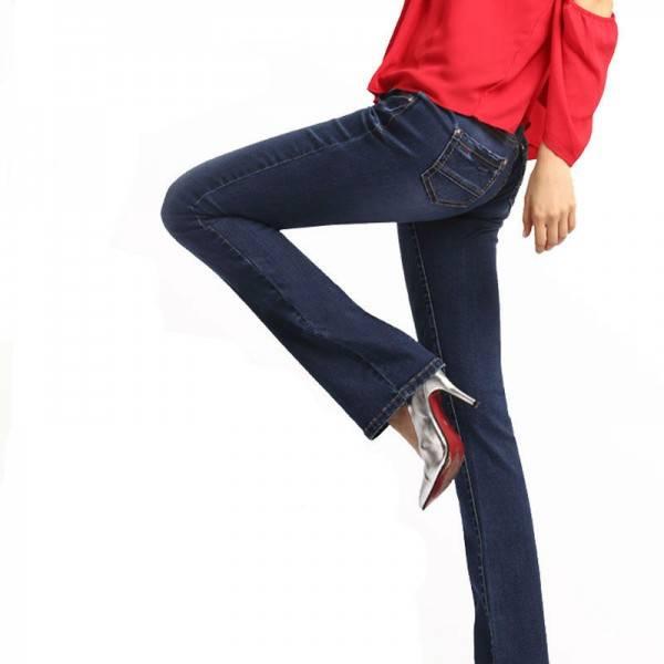 Womens Bell Bottom Skinny Jeans