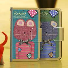 t-pocket Puppy&rabbit wallet type Design case