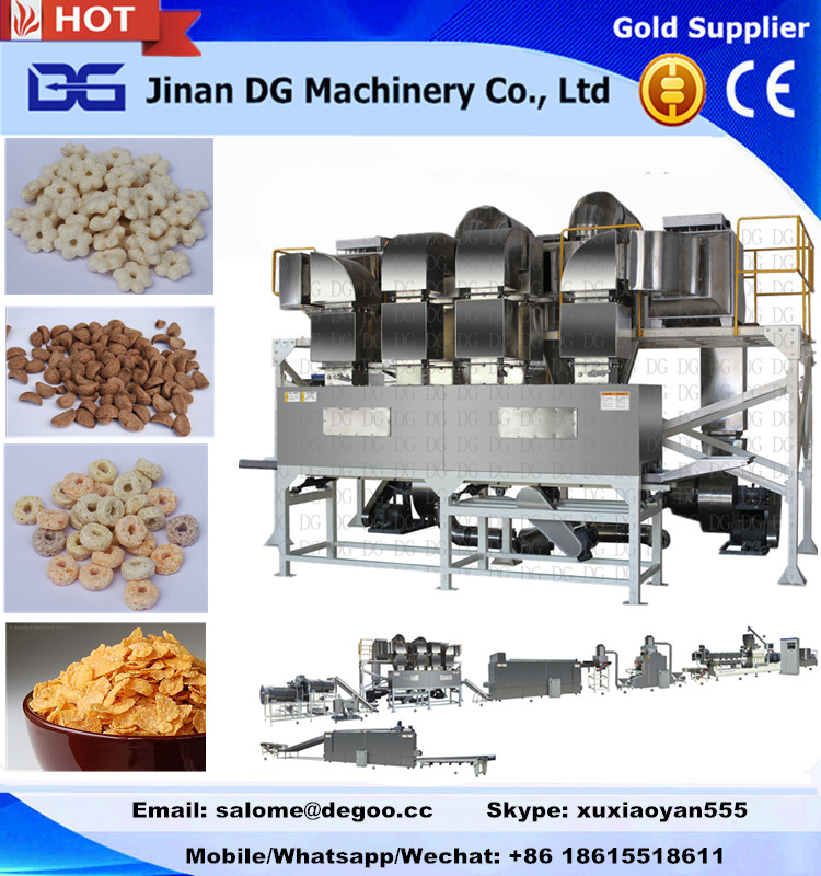 200-250kg twin screw extruder for making cereal corn flakes snack food
