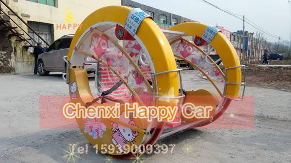 Yellow Happy 2 Wheel Racing Amusement Rides for Family Joy for sale