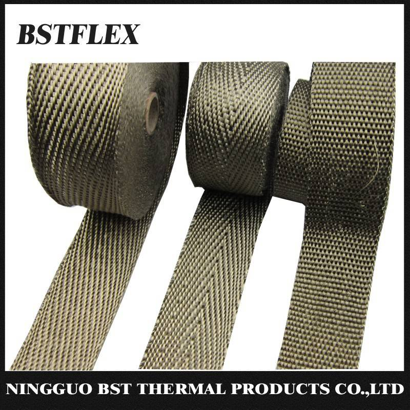 Titanium Exhaust wrap LAVA rock fiber header wrap