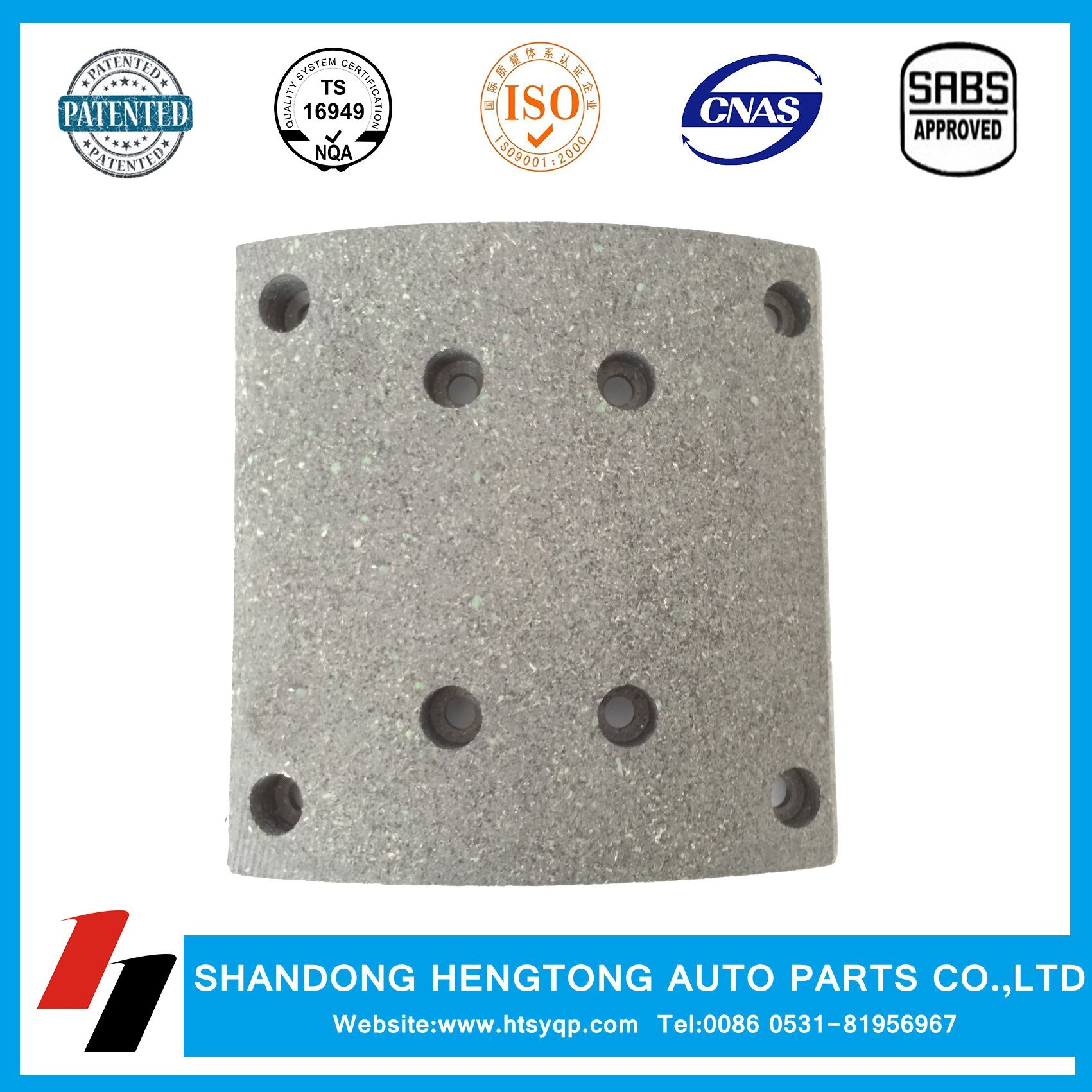 Semi-metal Brake Lining WVA19487 for MAN/Mercedes/Renault/Steyr