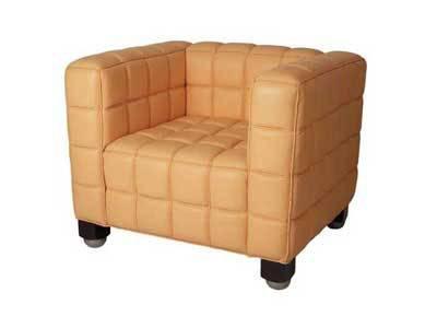 Hotel/Living Room Furniture Kubus Josef Hoffmann Armchair and Sofa