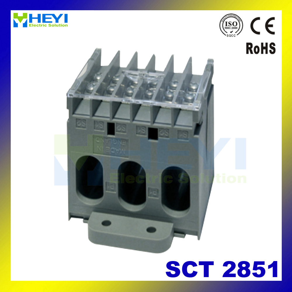 HEYI 3 phase current transformer for ammeter SCT2851 din rail ac current sensor