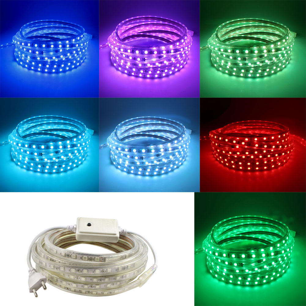 AC220V Flex LED strip light Christmas decoration Indoor Outdoor LED Tape Lighting for Kitchen Gardon