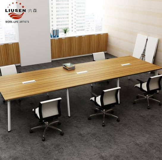 Luxury Stainless Steel MDF Modular Conference Room Table and Simple Slate Steel Tripod Small Confere