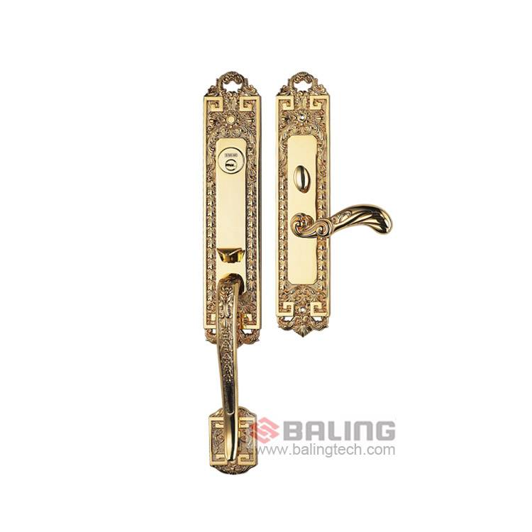 Euro Profile Cylinder Luxury Brass Lock Villa Gate Palace Mortise Key Door Lock