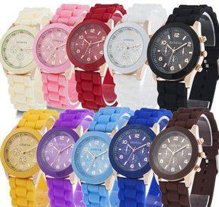 food grade solid color silicone wrist watches
