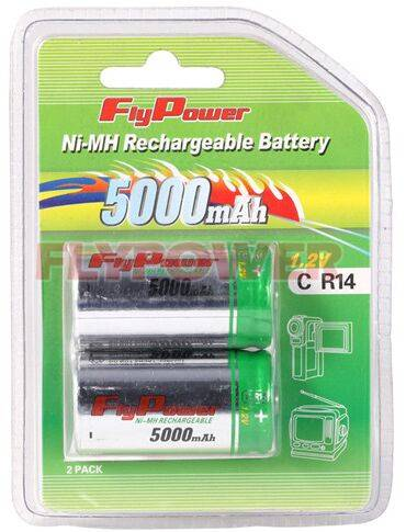 1.2V C5000mAh Ni-MH rechargeable battery