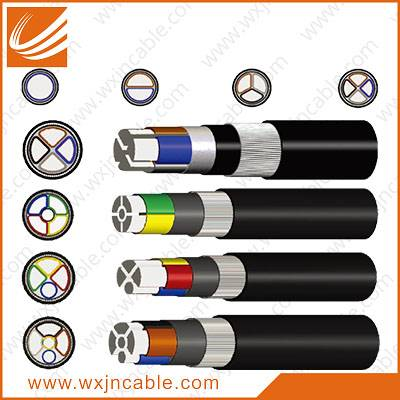 0.6/1KV VLV33-Aluminium Conductor PVC Insulated Steel Wire Armoured PE Sheathed Power Cable