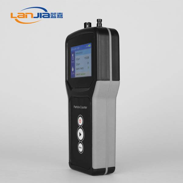 Handheld particle counter for clean room use