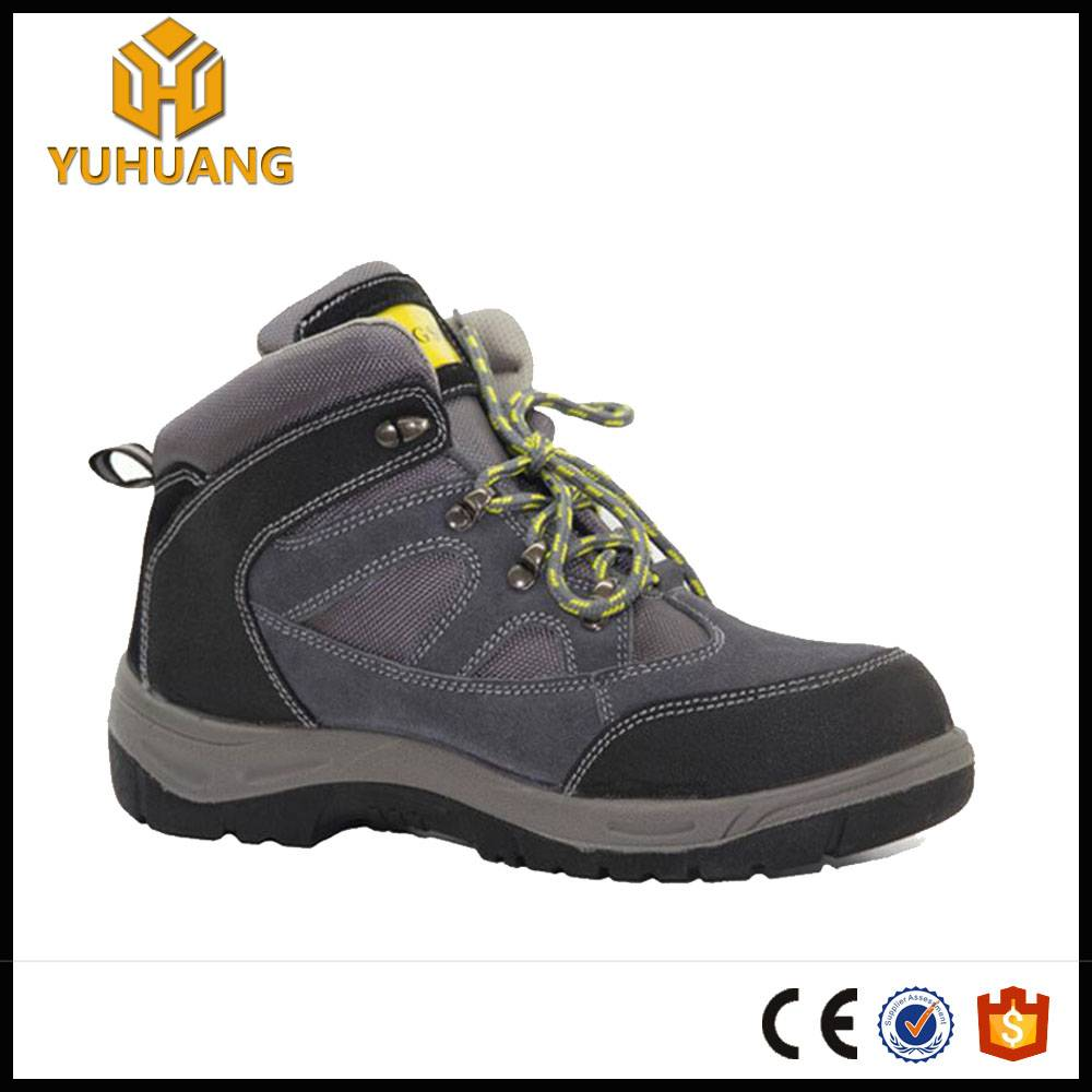 hot sale cow suede leather acidproof hiking safety shoes