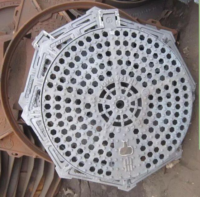 Cast ductile iron round or octagonal graitng