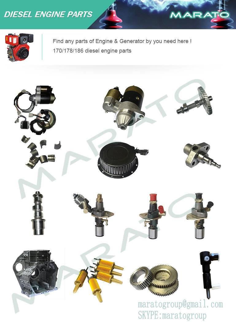 KAMA,KIPOR diesel engine 170f/178f/186f spare parts