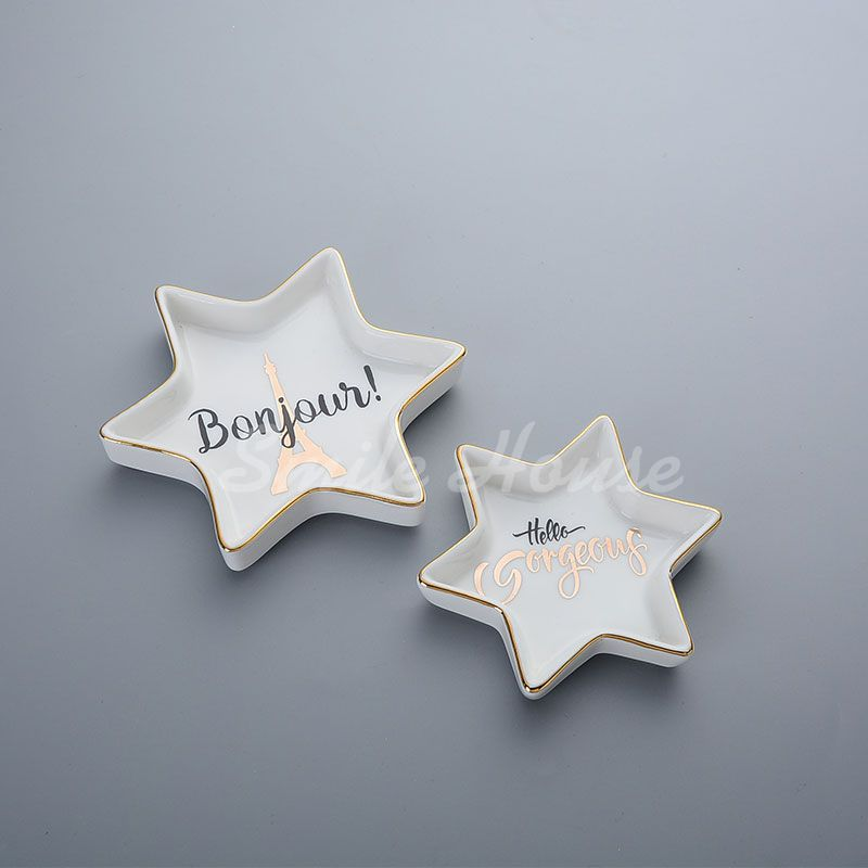 Trinket ceramic dishes for wedding day and party