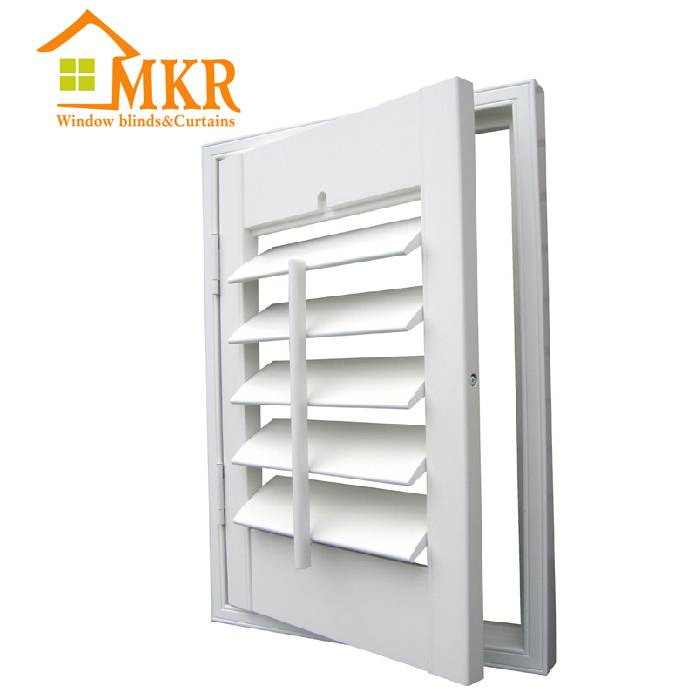 MKR Wooden Plantation Inner Window Shutter From China