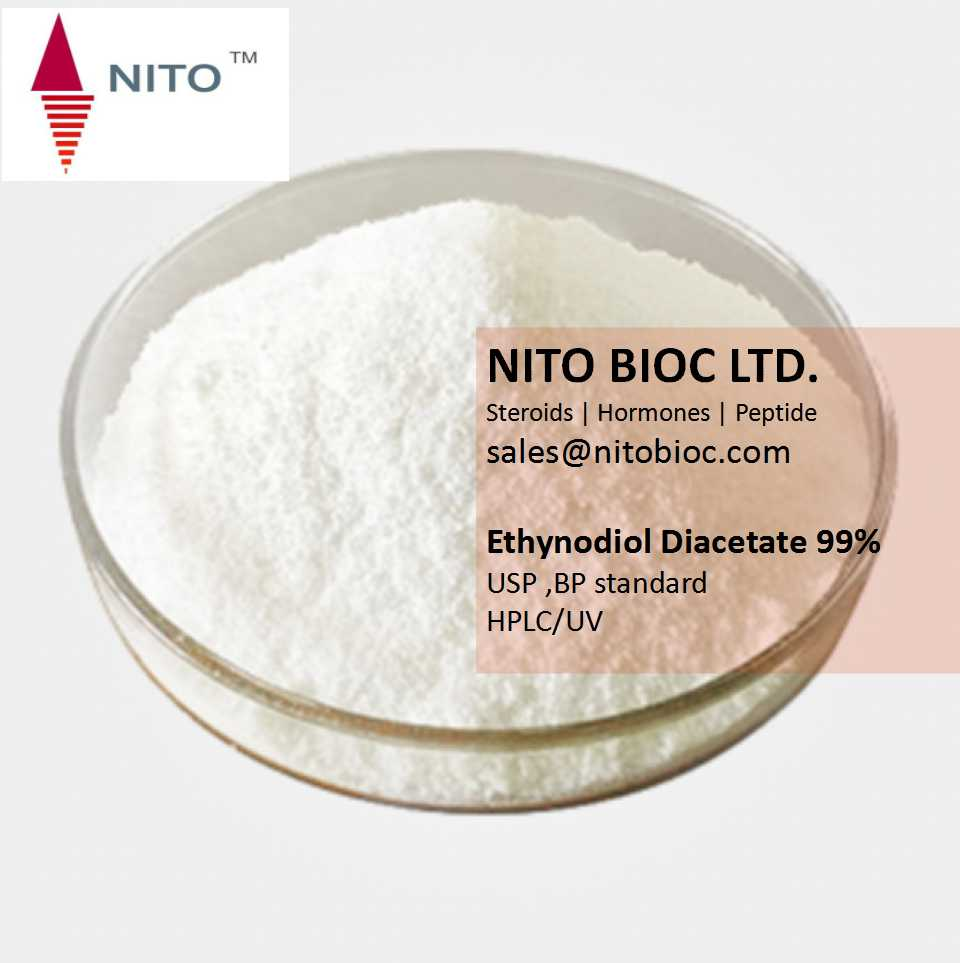 Factory quality control, strong steroid powder: Ethynodiol Diacetate with CAS NO:297-76-7