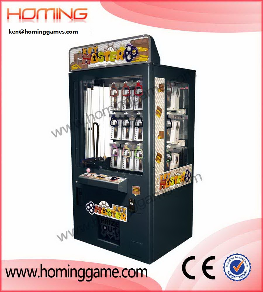 Coin operated key master prize vending game