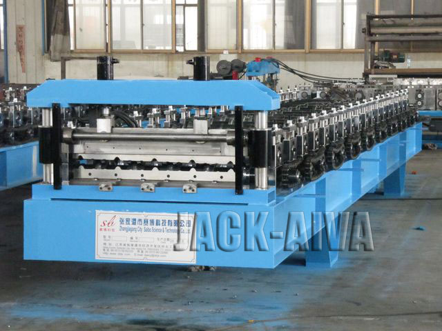 Steel Ribbed Roof panel roll forming machine