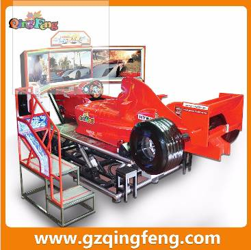 Qingfeng coin operated driving simulator FF racing car machine