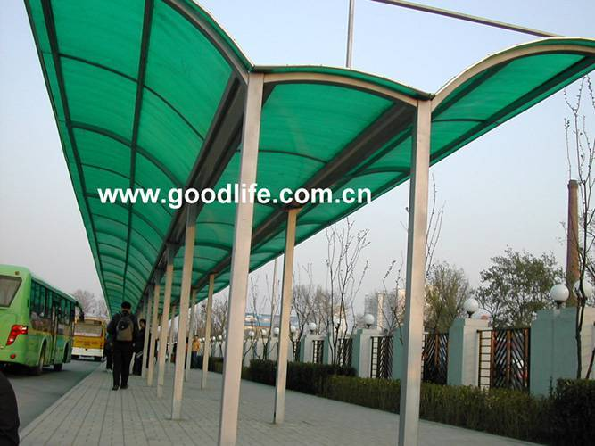 PC sheet for bus stop: www.polycarbonate-sheet