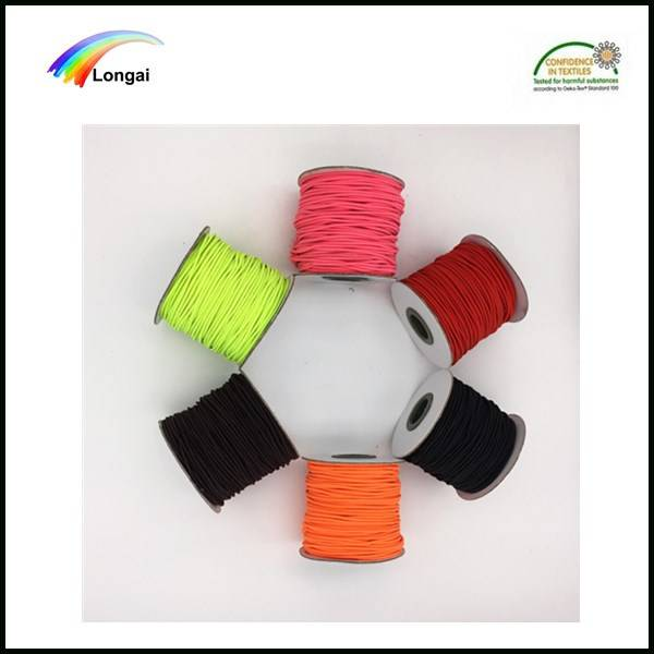 garment use polyester elastic round braided rubber rope for sale
