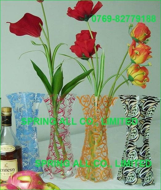 Promotional vase, folding vase, pvc vase