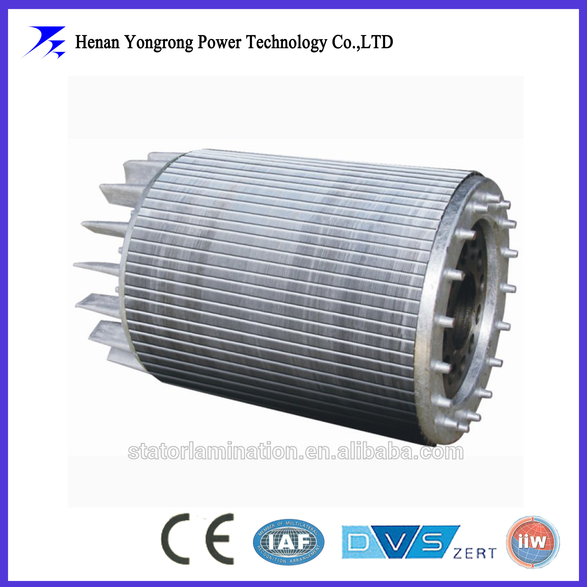 Three-phase asynchronous high efficiency motor rotor core