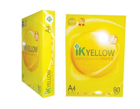 IK Yellow A4 Copy Paper 80gsm,75gsm,70gsm
