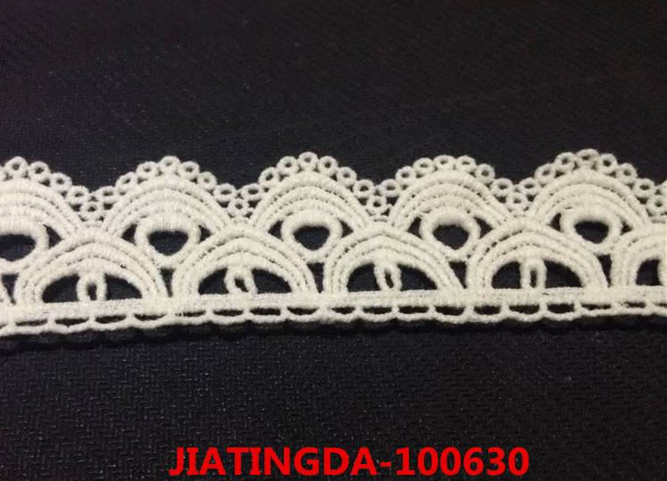 water-soluble cotton lace
