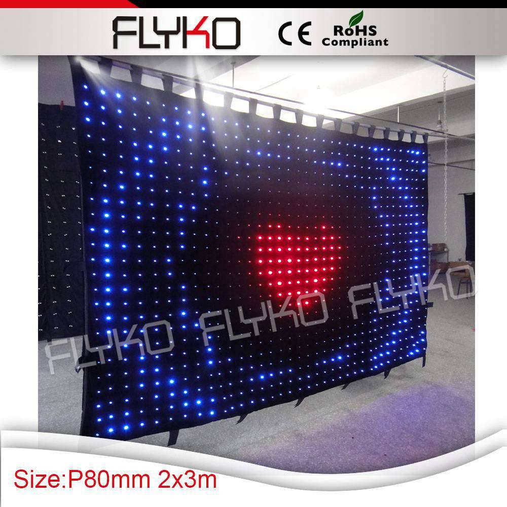 P8 2*3m foldable led video curtain