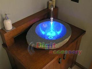 LED Water Temperature Shower Faucet Light Sensor