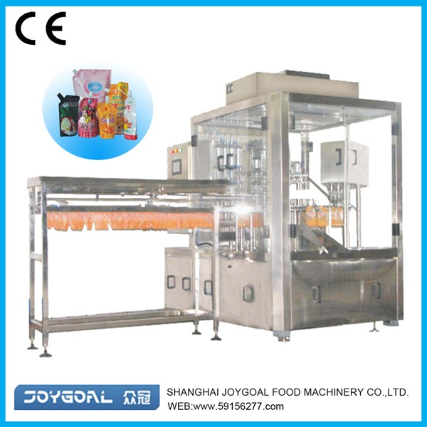 made in China jelly stand up pouch filling and cap-screwing machine