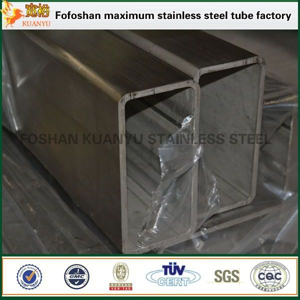 hairline finished 316 stainless steel rectangular tube