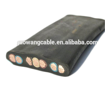 Flat Rubber Insulated Pump Cable submersible winding wire