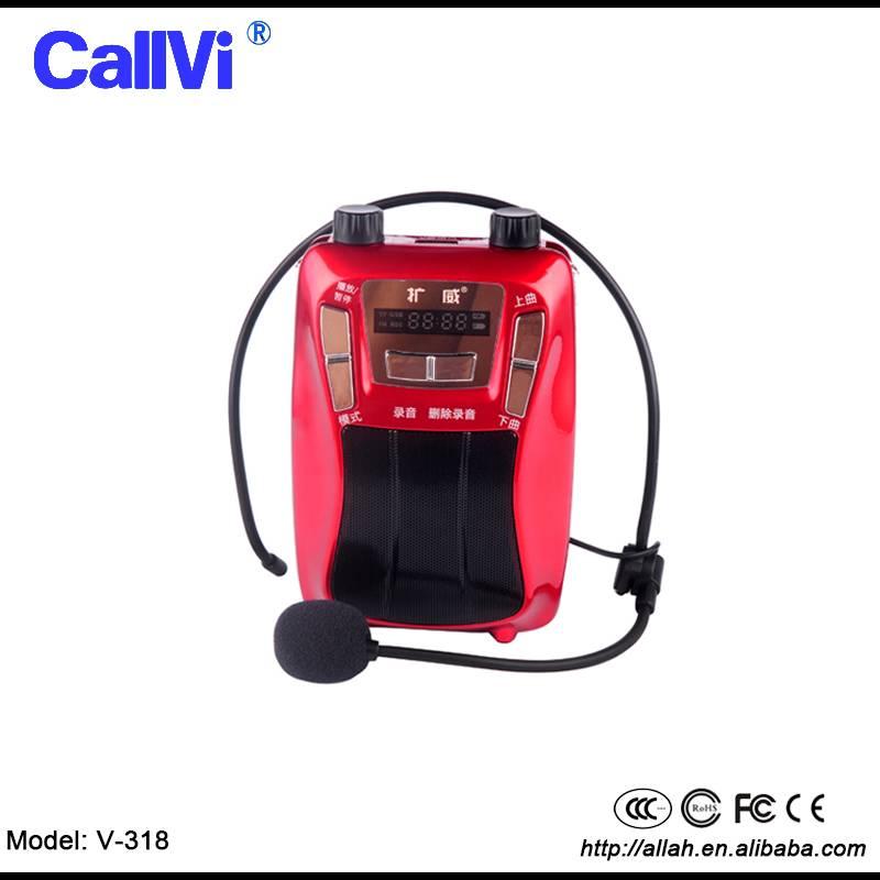 18W 4000mah High power voice amplifier for teachers guides PA digital loudspeaker support FM REC TF
