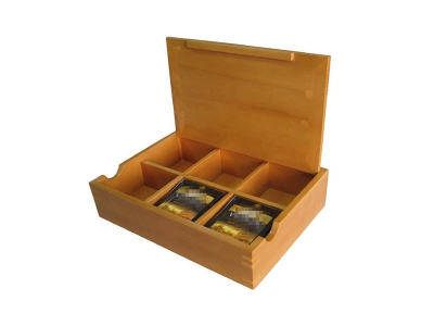 Pine Wood Tea Box