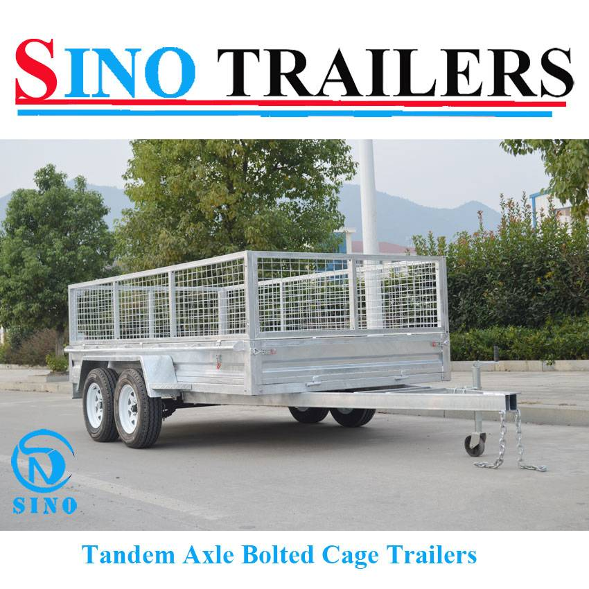12X6 Heavy Duty Box Tandem Axle Bolted Utility Cage Trailer