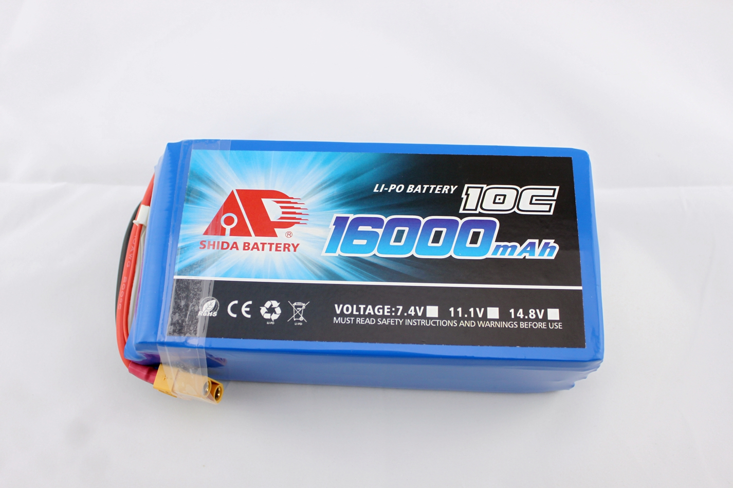 16Ah 22.2V rechargeable lithium battery for drones