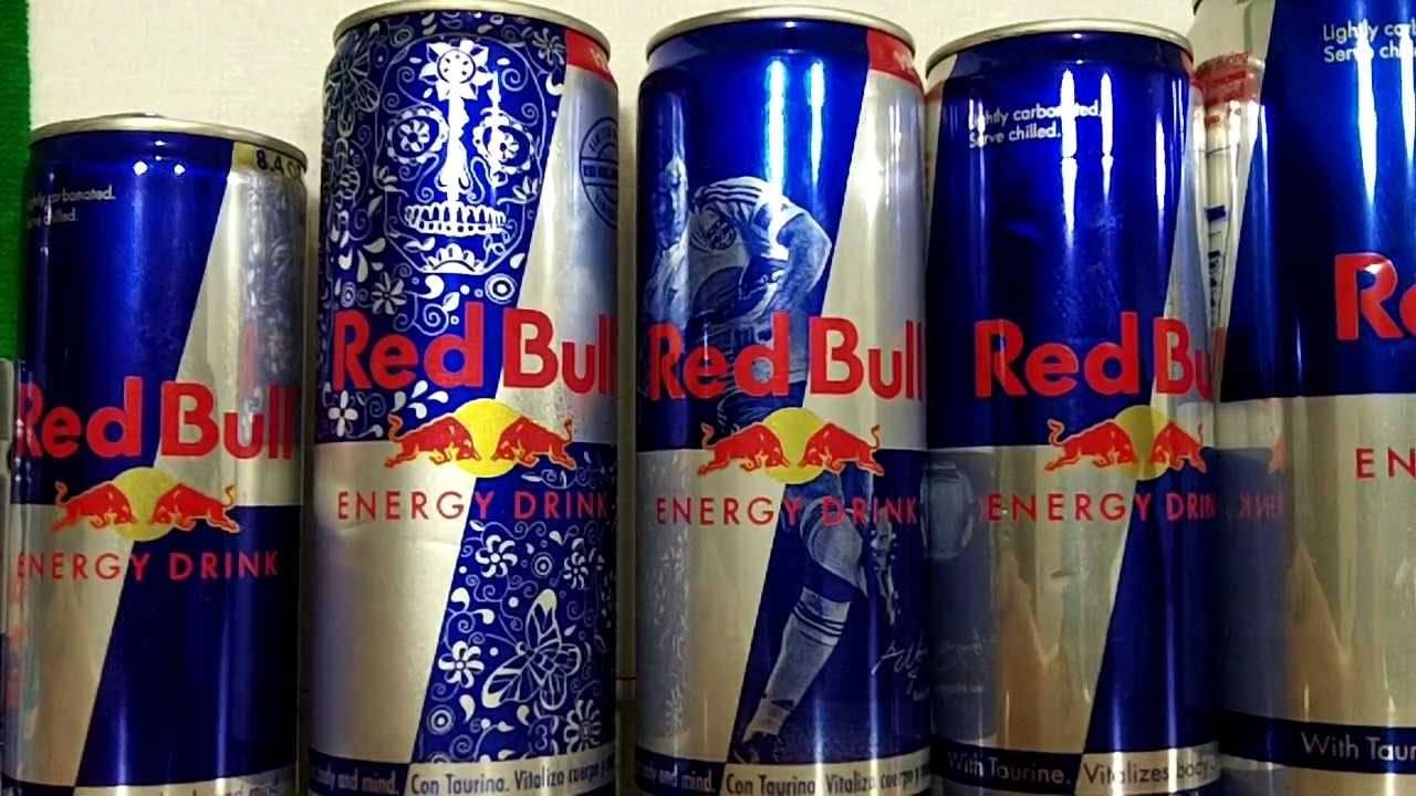 Monster and Red Bull Energy Drinks 250 ml