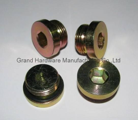 American SAE Hex Socket Steel plug