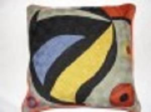 Crewel Chainstitch Pillow Rufus Multi Cotton (20x20)