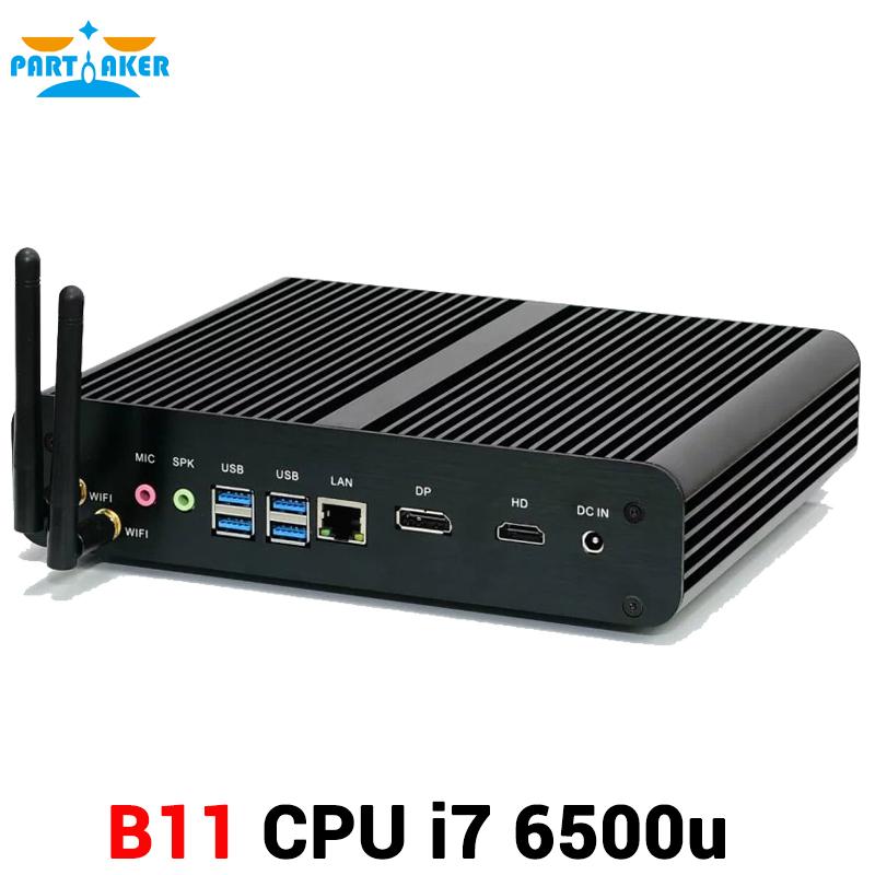 6th Gen Skylake Intel HD Graphics 520 4K HTPC Windows 10 i7 6500U 6600U Processor Mini PC