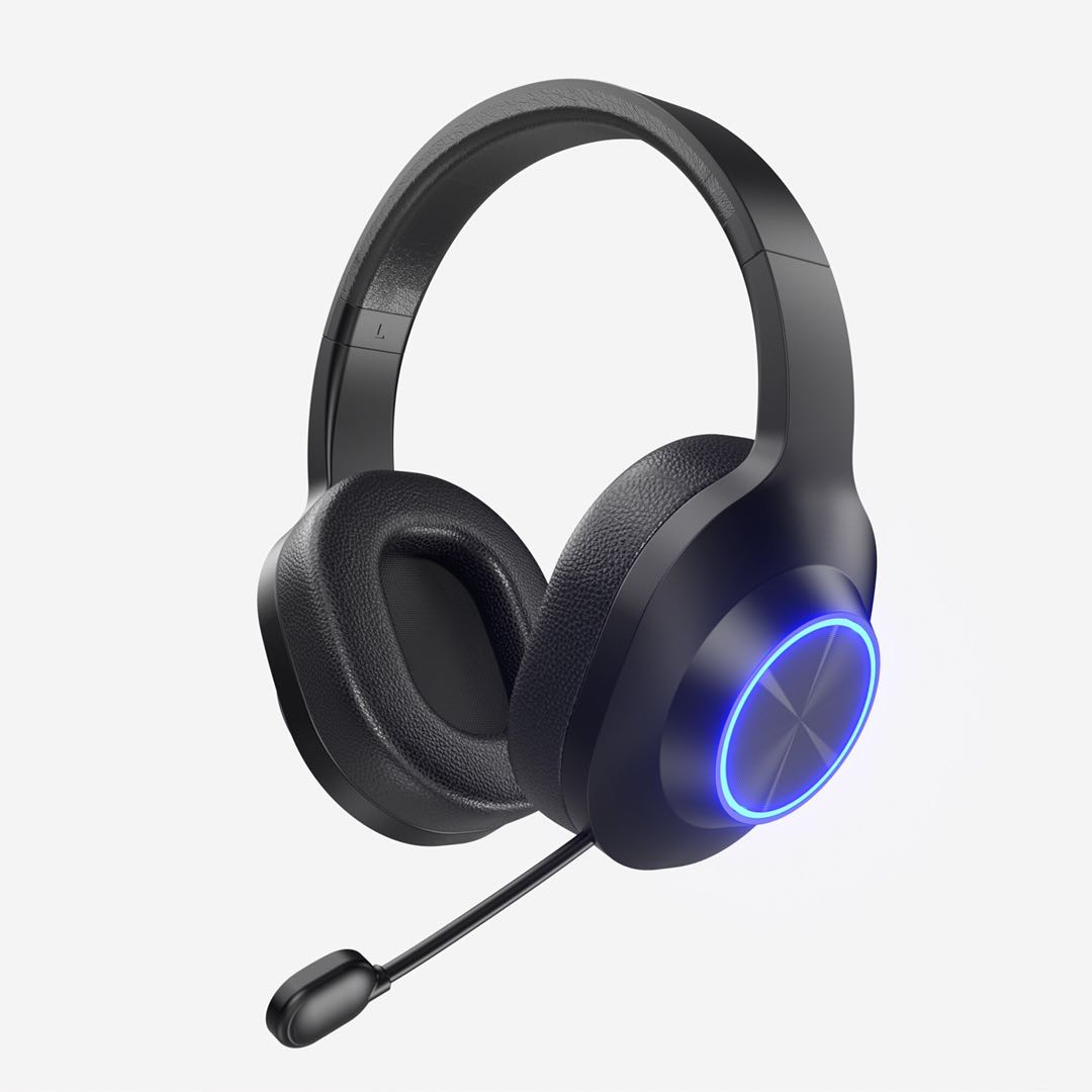 Wired Black and Blue LED Gaming Headset with Microphone Super Comfortable USB Headset