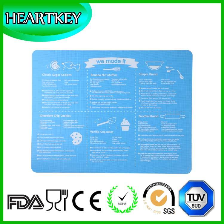 food grade ptfe silicone baking mat with custom printing
